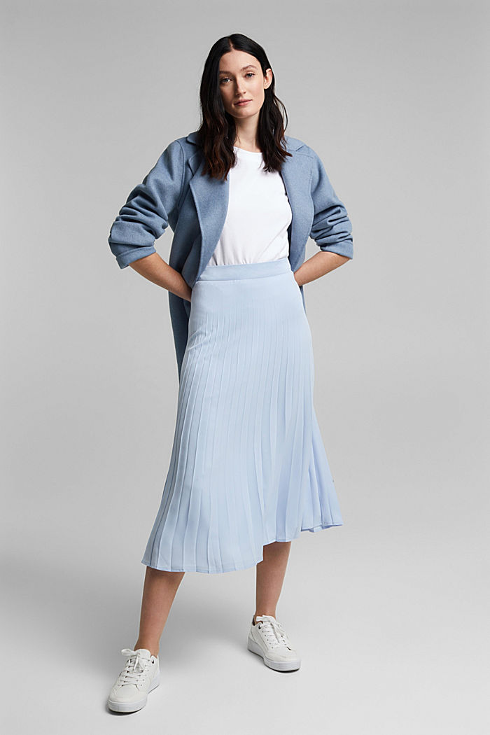 Recycled: plissé skirt