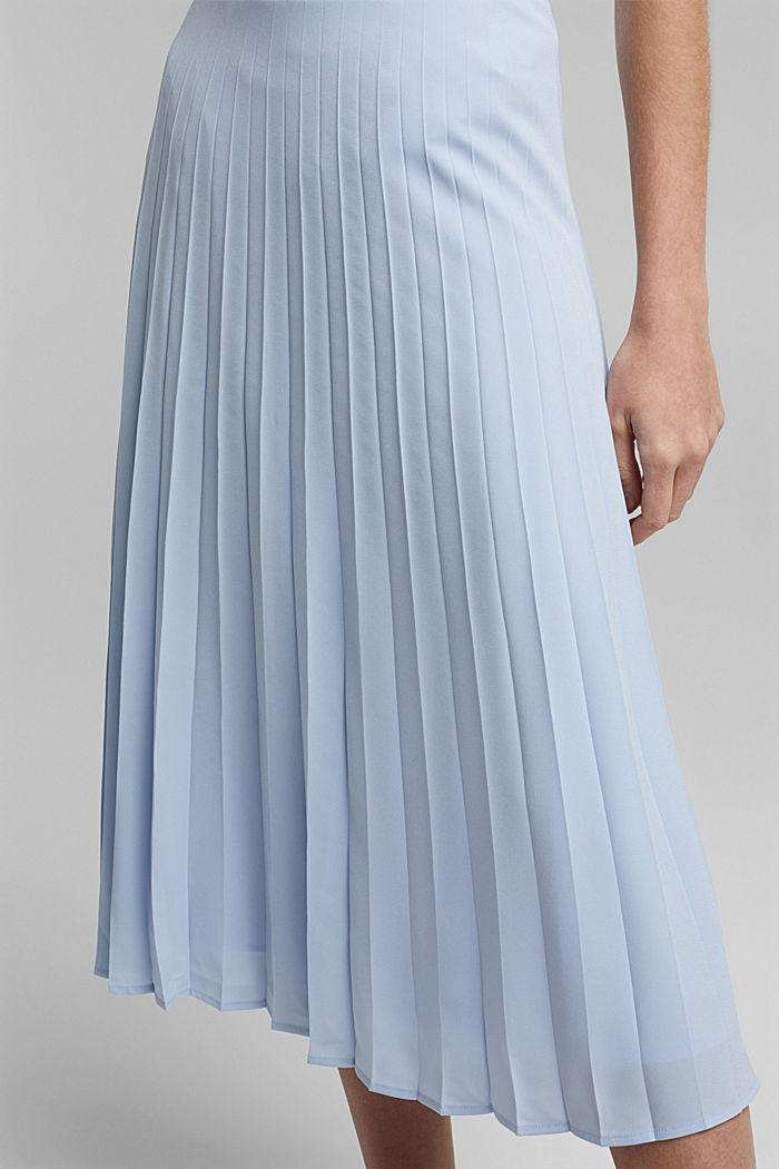En matière recyclée: la jupe plissée, PASTEL BLUE, detail image number 2