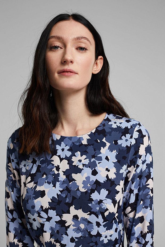 Midi-Kleid aus LENZING™ ECOVERO™, NAVY, detail image number 5