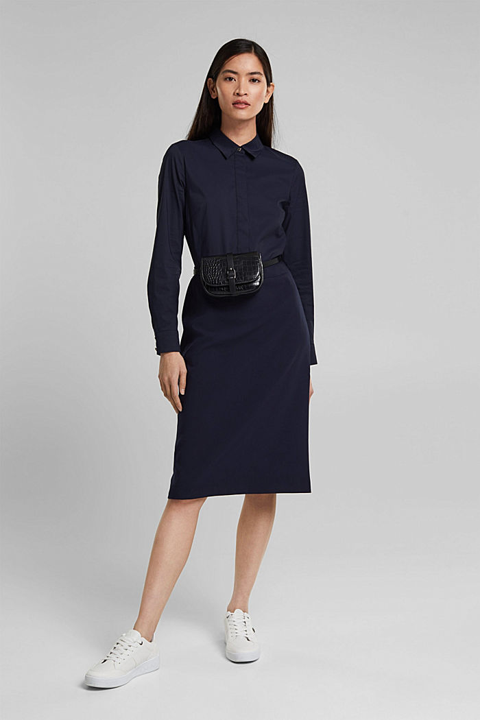 Shirt dress in a two-piece look, NAVY, detail image number 1