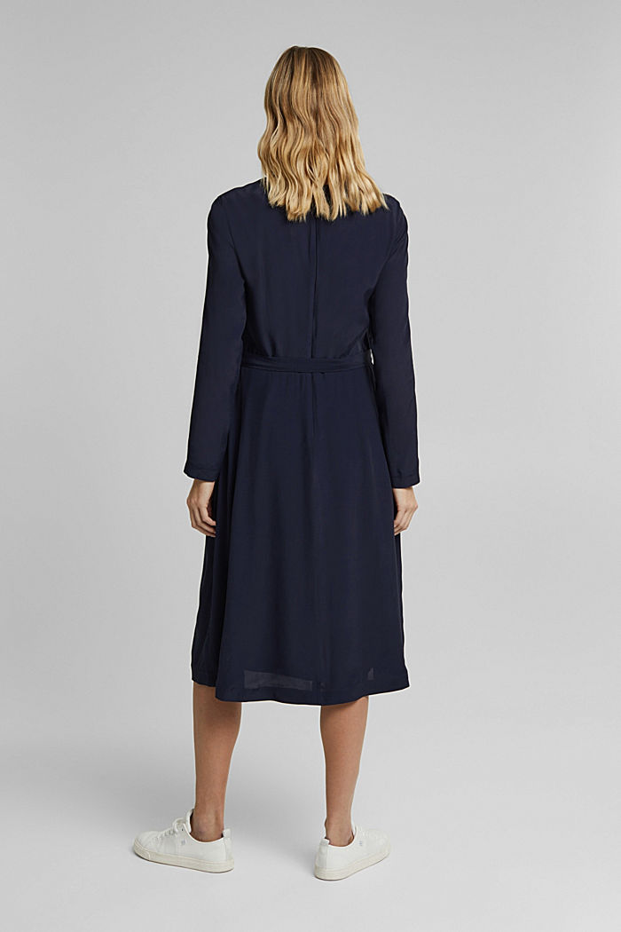Midi dress with a belt, NAVY, detail image number 2