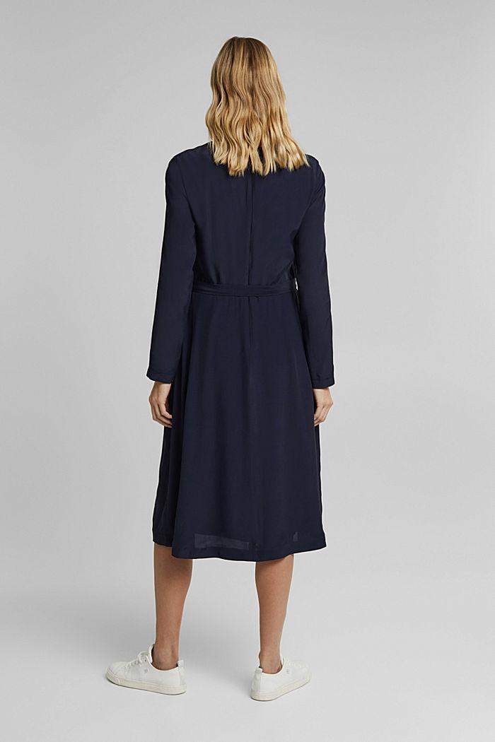 Midi-Kleid mit Gürtel, NAVY, detail image number 2