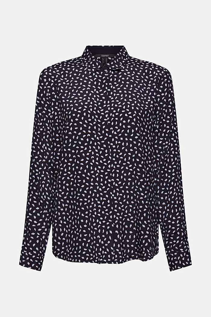 Blouse with minimal print, LENZING™ ECOVERO™