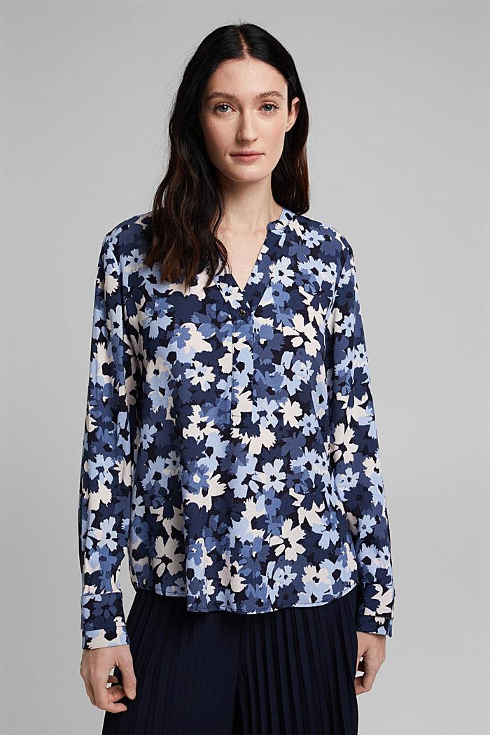 Tunikowa bluzka zLENZING™ ECOVERO™, NAVY, detail image number 0