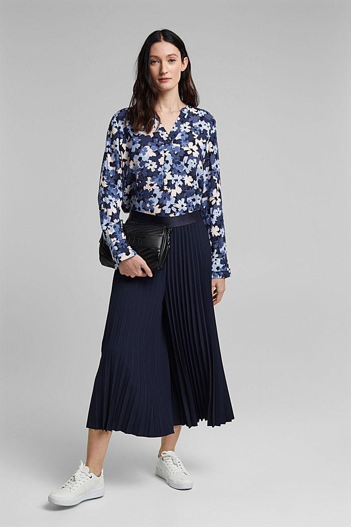 Tunikowa bluzka zLENZING™ ECOVERO™, NAVY, detail image number 1