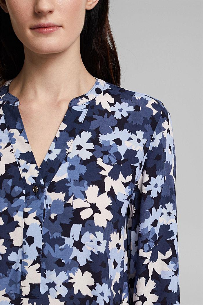 Tunikowa bluzka zLENZING™ ECOVERO™, NAVY, detail image number 2