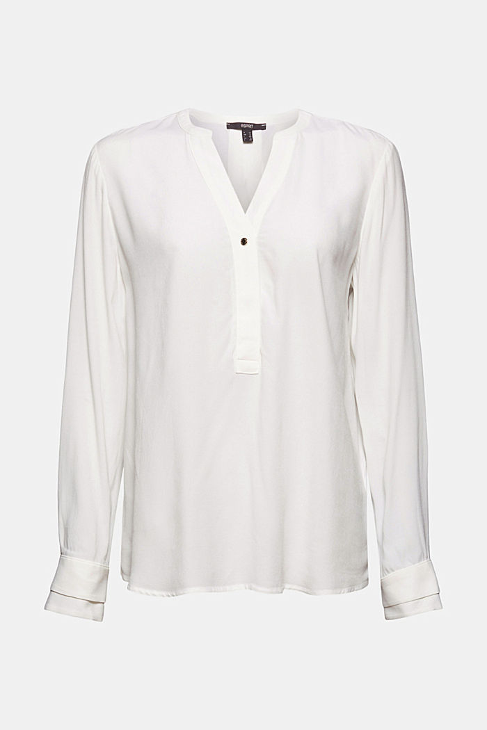 Henley blouse with layer details