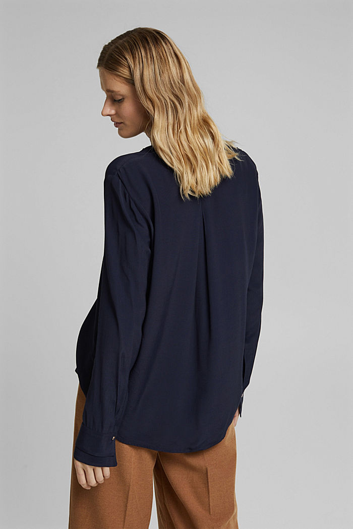 Henley-Bluse mit Layer-Details, NAVY, detail image number 3