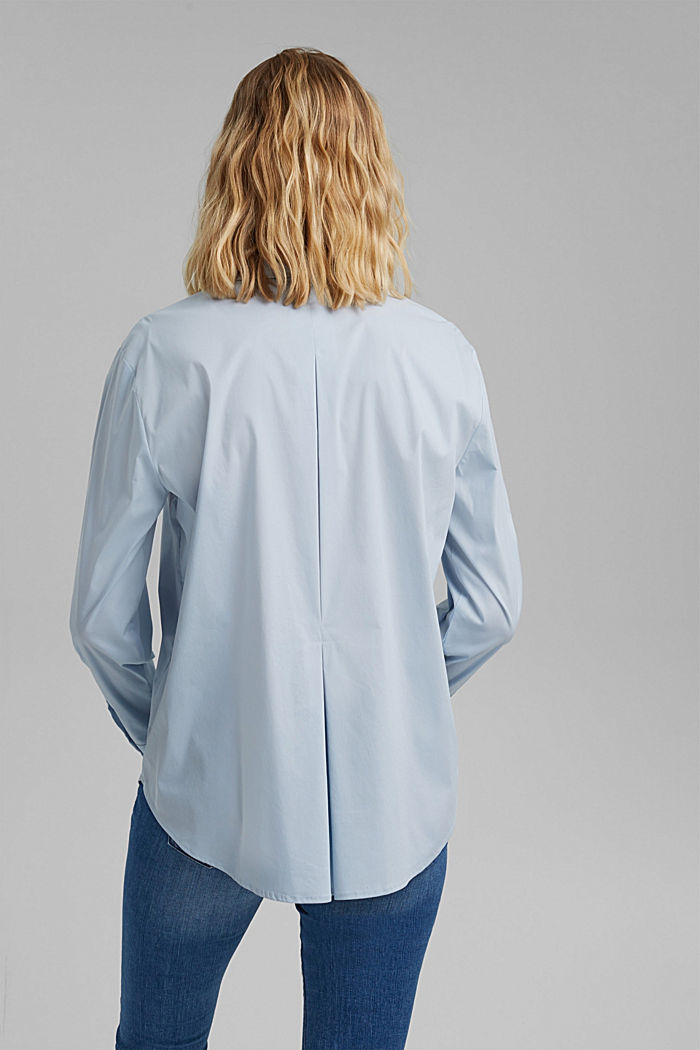 Hemdbluse mit Kellerfalte im Rücken, LIGHT BLUE, detail image number 3