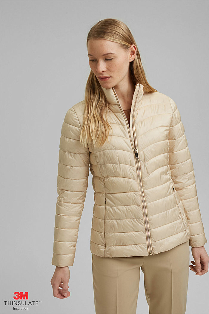 Recycled: 3M™ Thinsulate™ jacket, CREAM BEIGE, overview