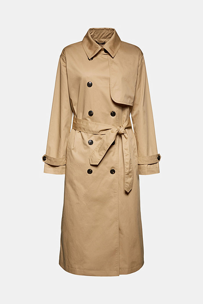 Recycled: trench coat with padding
