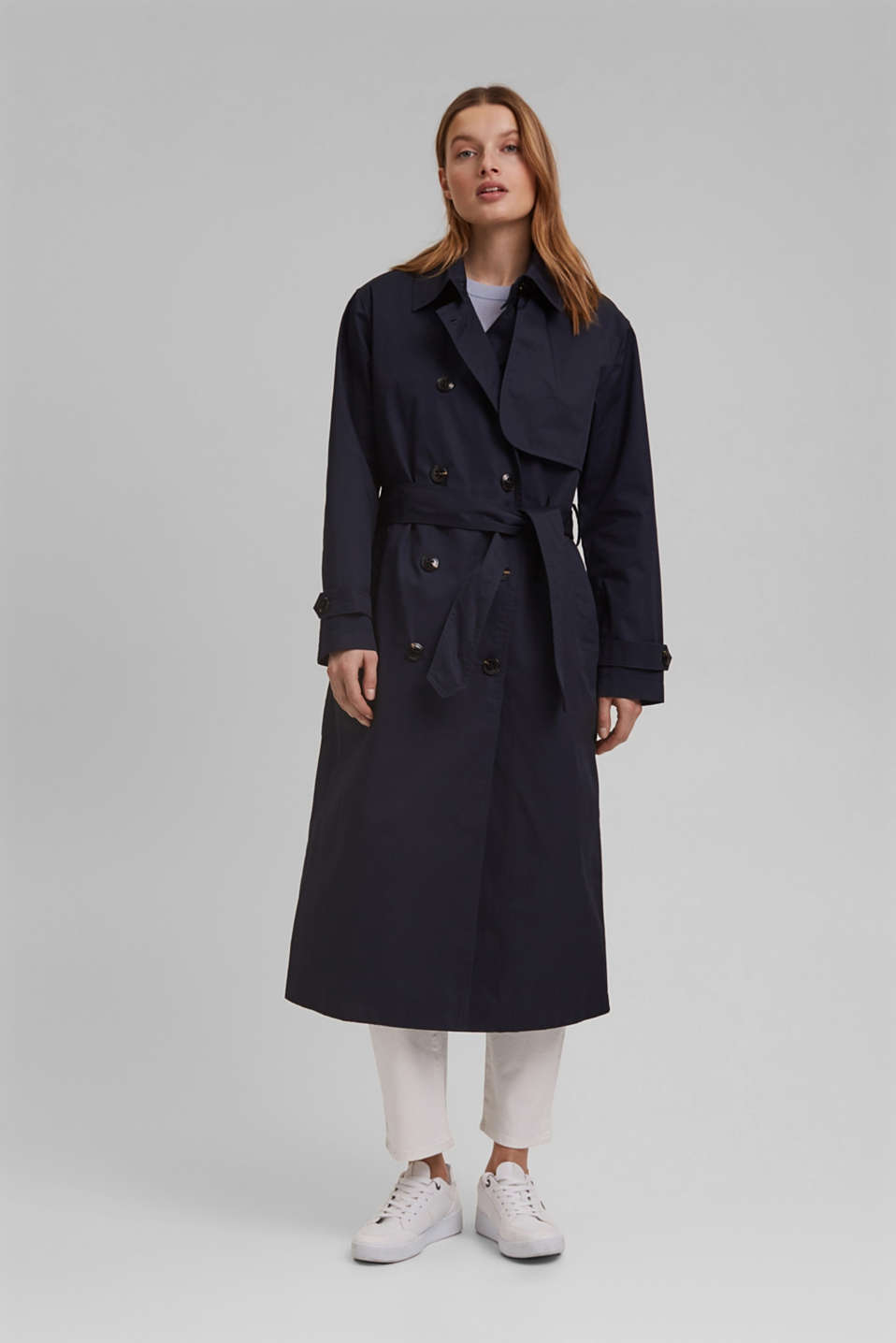 Esprit - Recycled: trench coat with padding