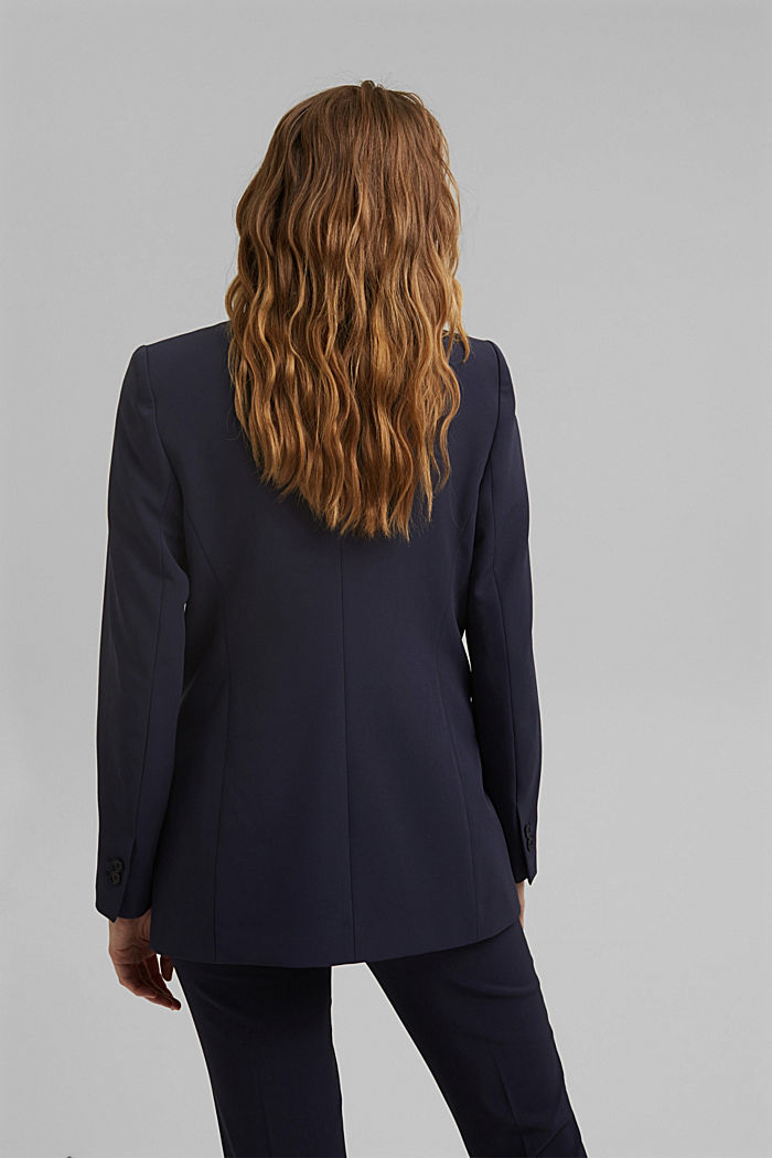 Long-Blazer mit Stretchkomfort, NAVY, detail image number 3