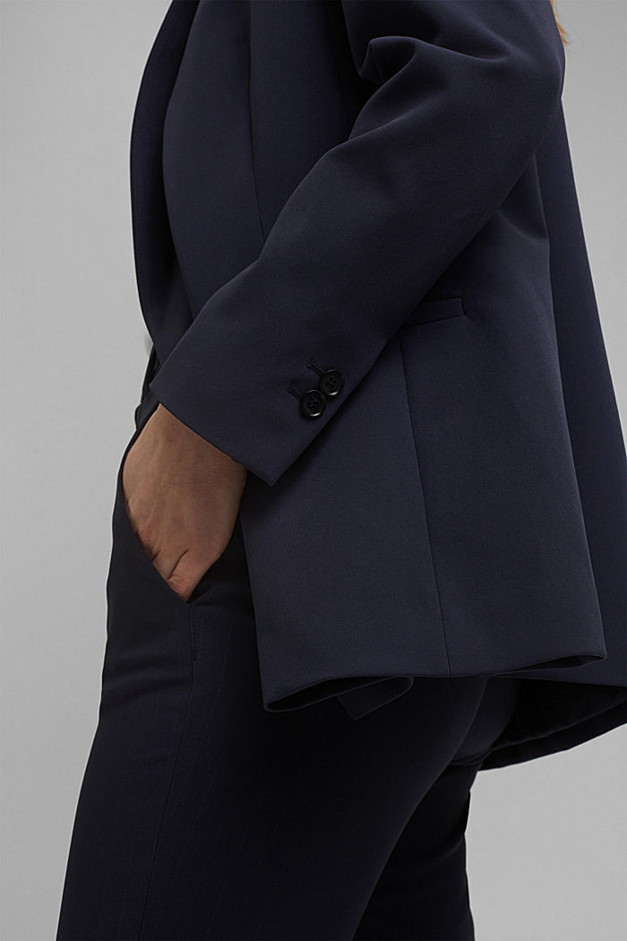 Long-Blazer mit Stretchkomfort, NAVY, detail image number 5