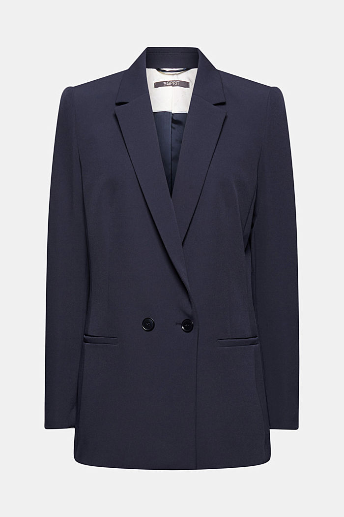 Long-Blazer mit Stretchkomfort, NAVY, detail image number 7