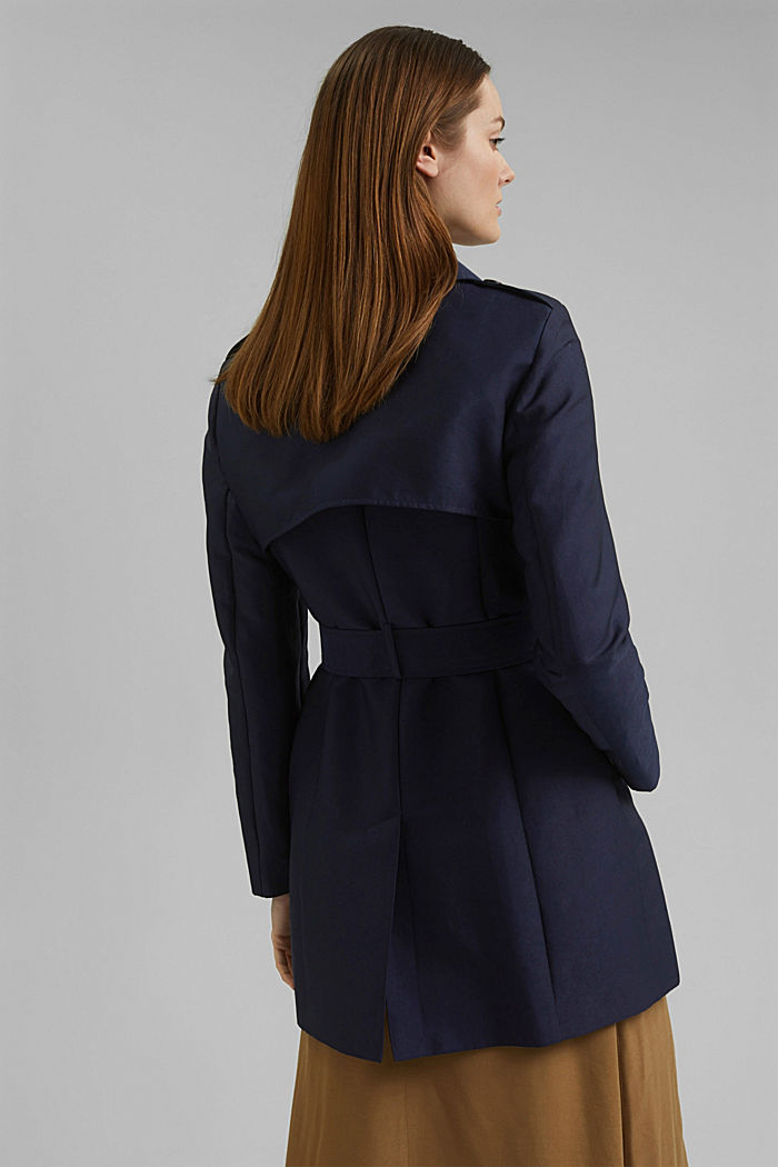 Trenchcoat aus Baumwoll-Mix, NAVY, detail image number 3