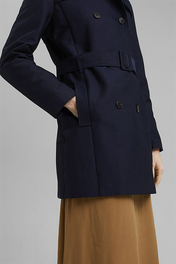 Trenchcoat aus Baumwoll-Mix, NAVY, detail image number 2
