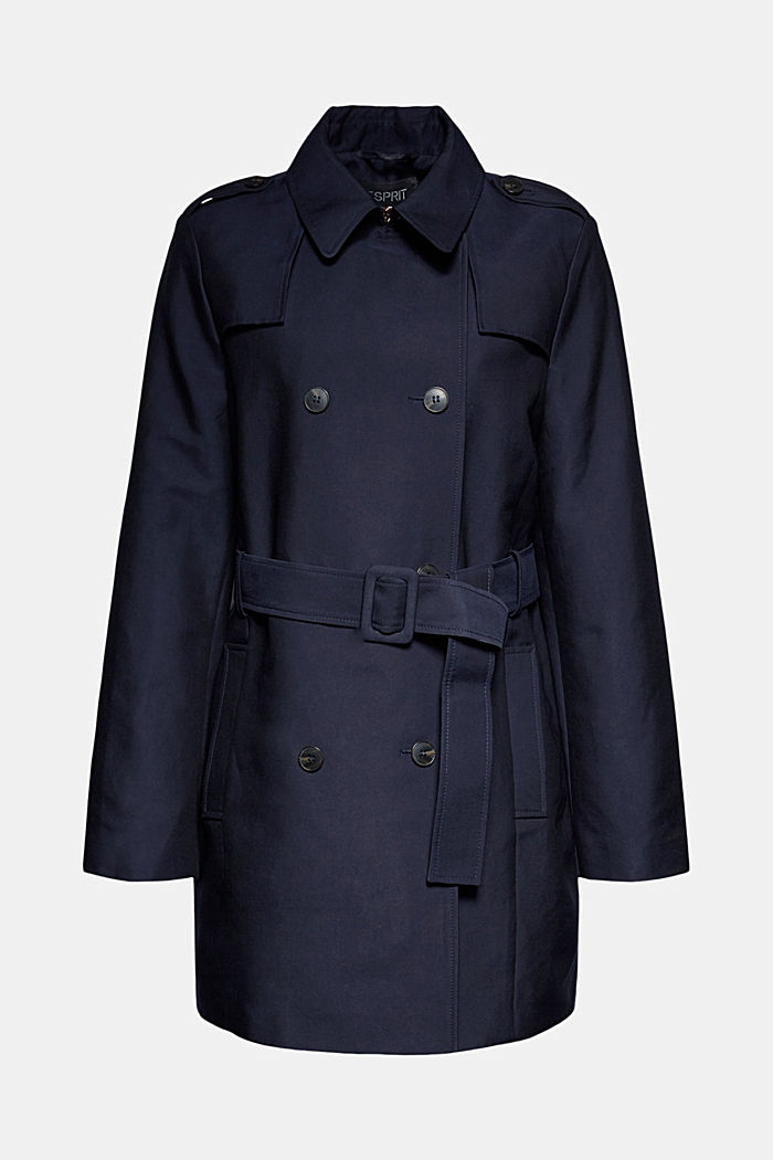Trench coat in blended cotton