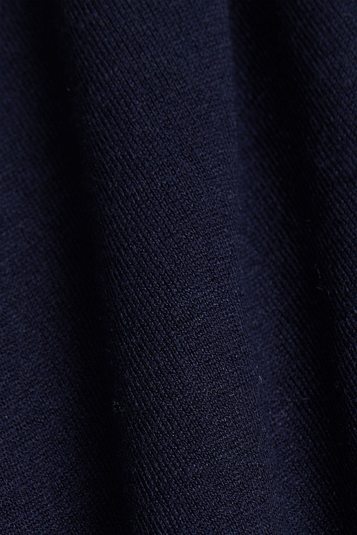 Silk blend: crewneck jumper, NAVY, detail image number 4