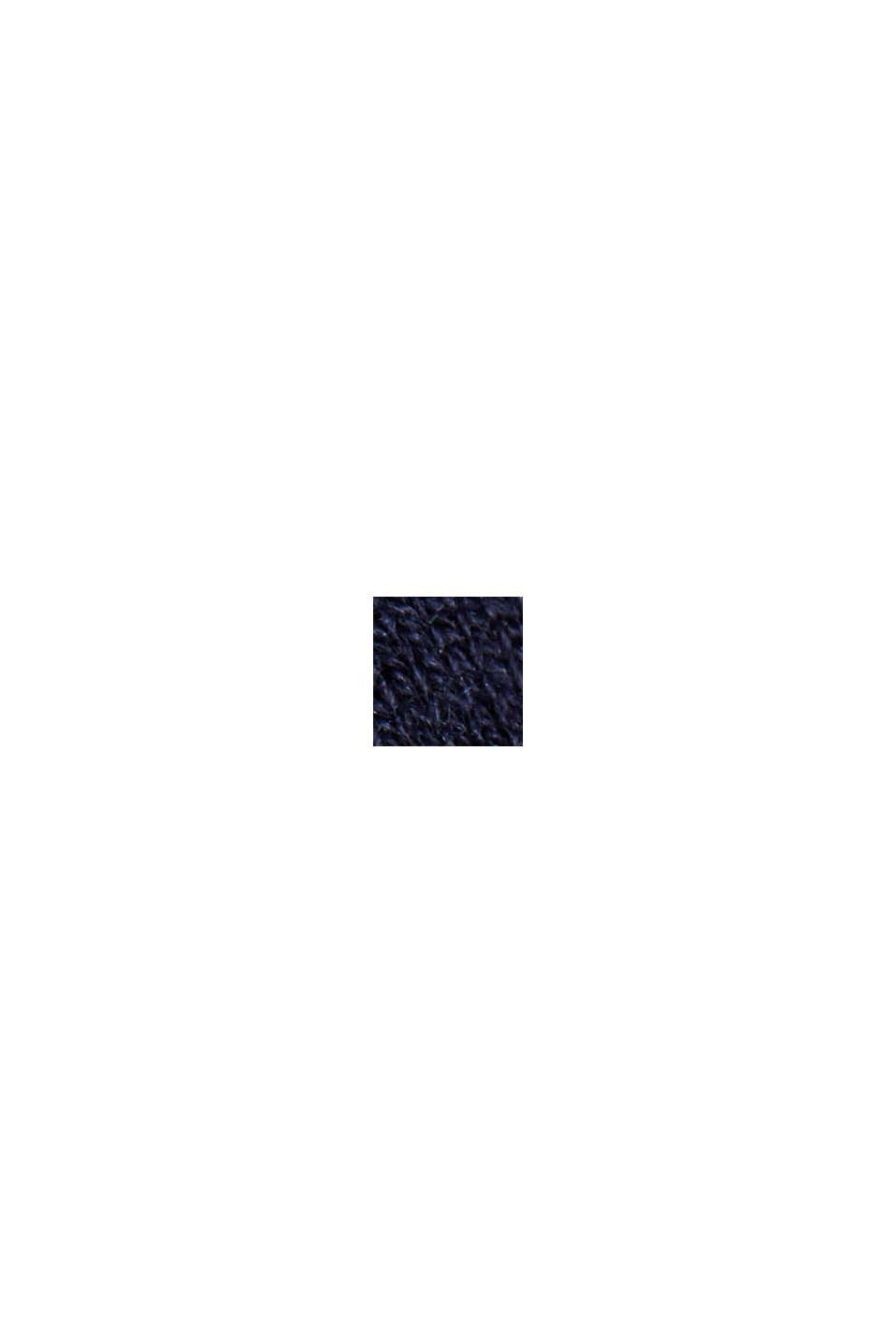 À teneur en soie: le pull-over à encolure ronde, NAVY, swatch