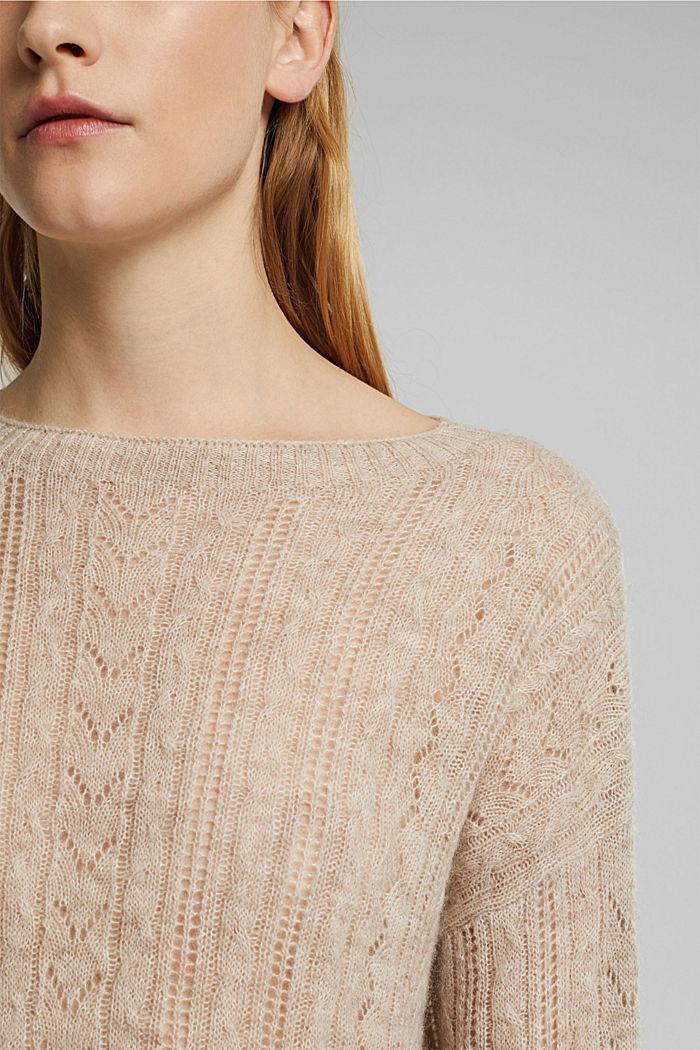 Med alpacka: tröja i ullmix, SAND, detail image number 2