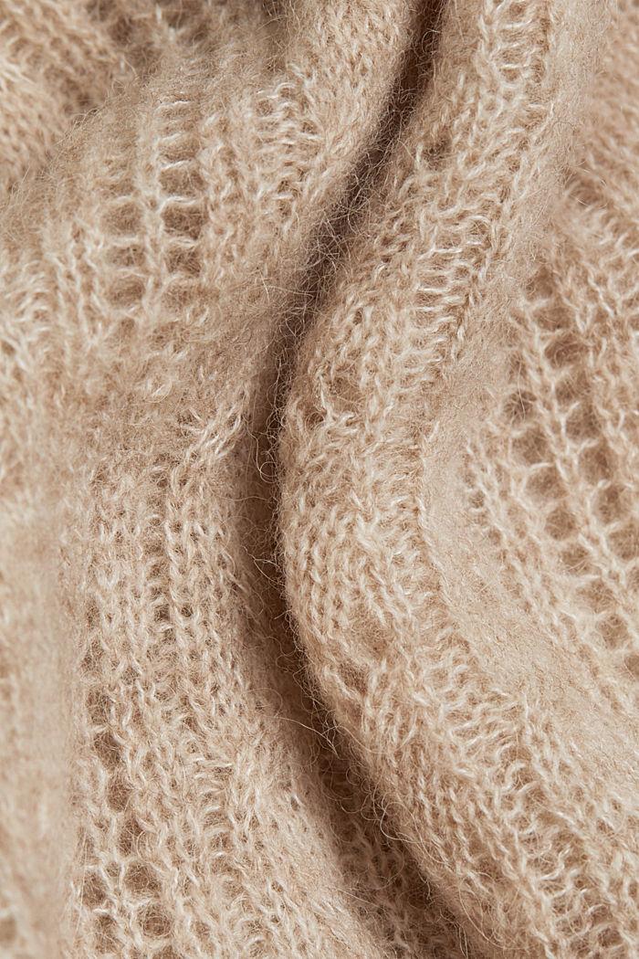 Med alpacka: tröja i ullmix, SAND, detail image number 4