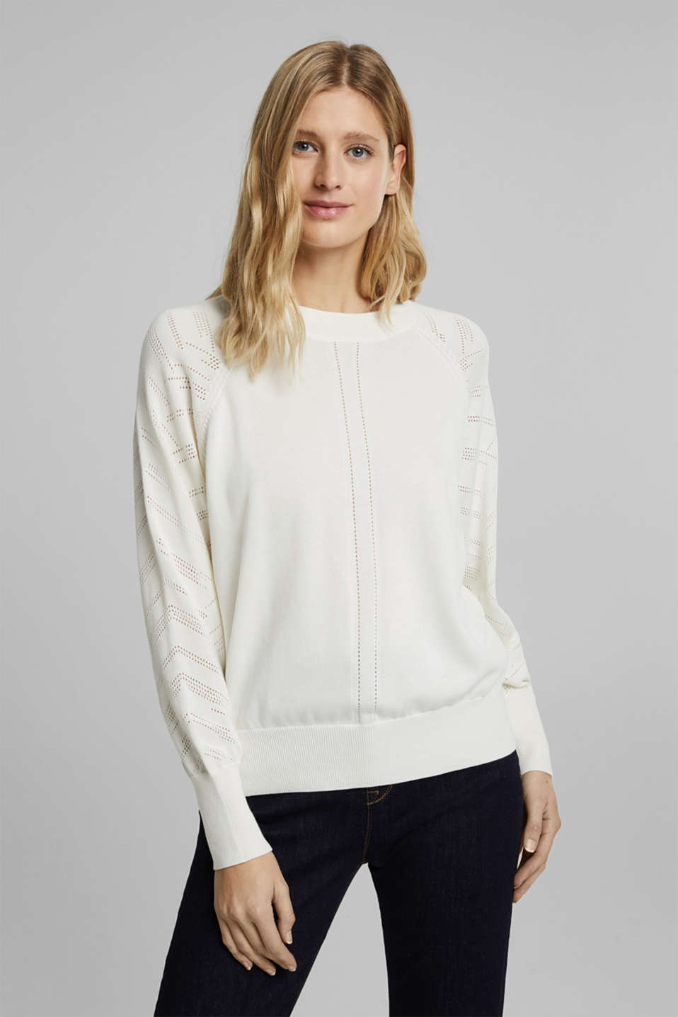 Esprit - Cotton blend: textured jumper