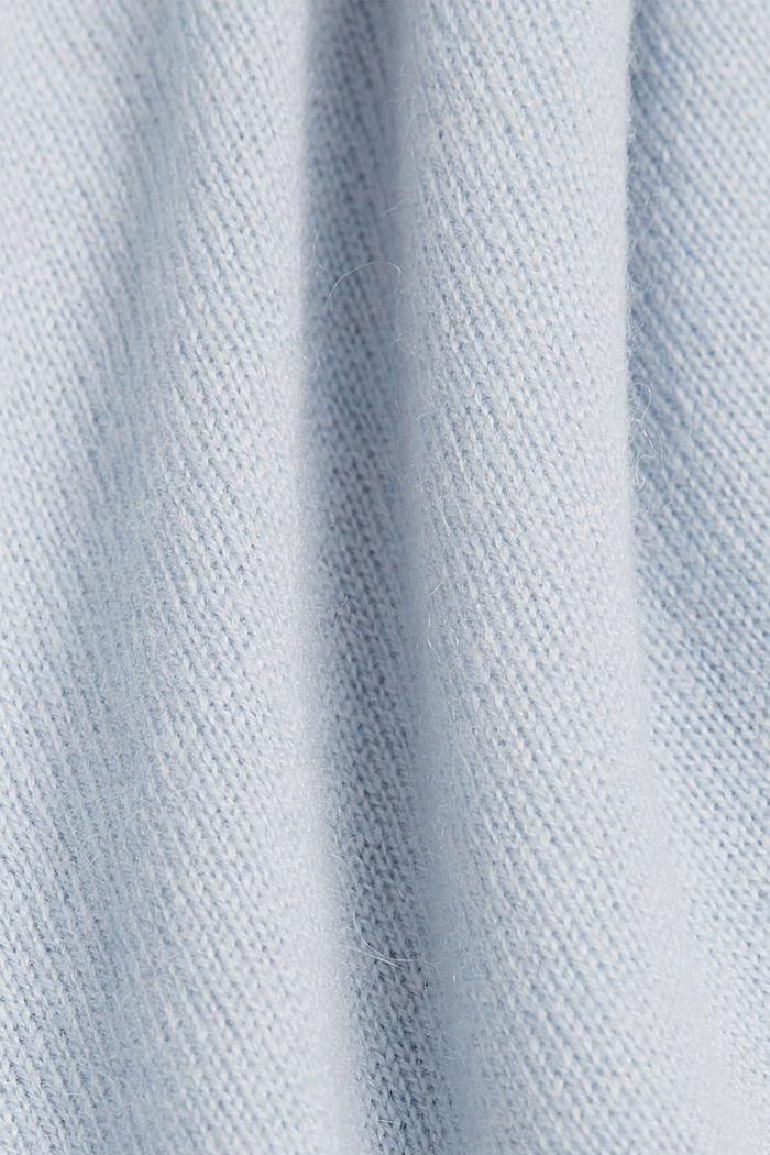 À teneur en cachemire: le pull-over à manches courtes, PASTEL BLUE, detail image number 4