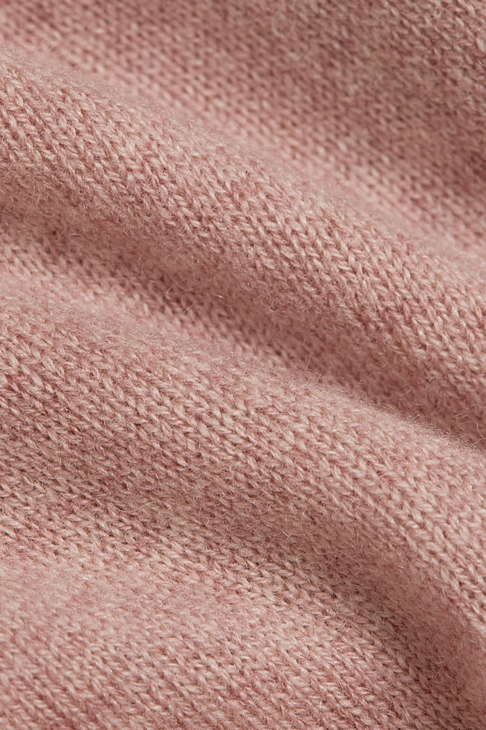 Cashmere blend: Short-sleeved jumper, OLD PINK, detail image number 4