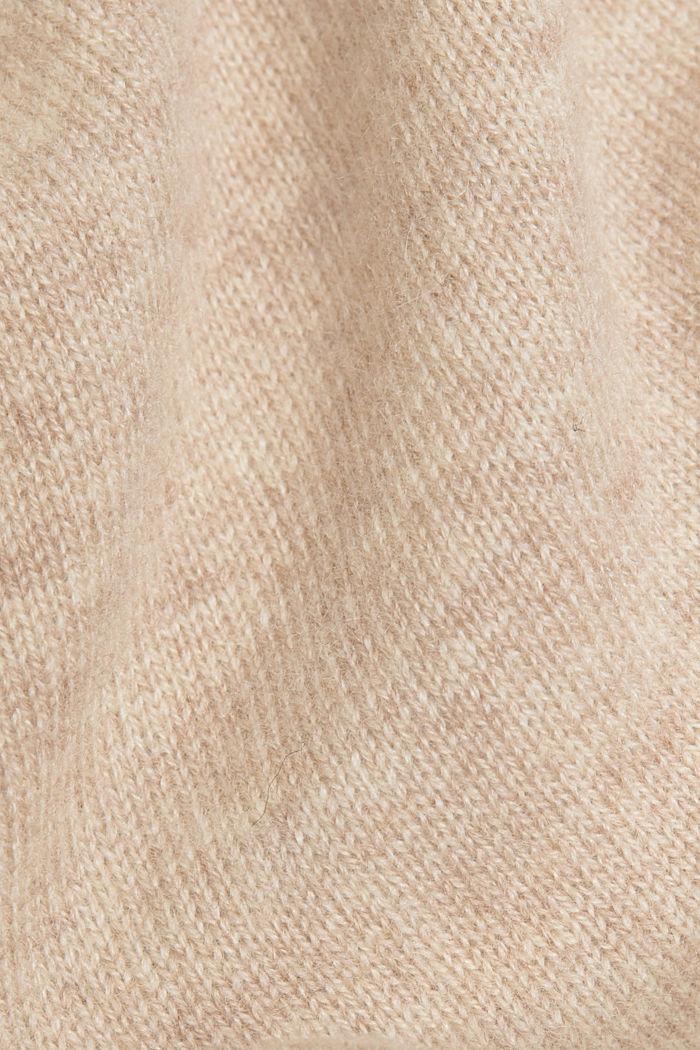 Cashmere blend: wool blend cardigan, SAND, detail image number 4