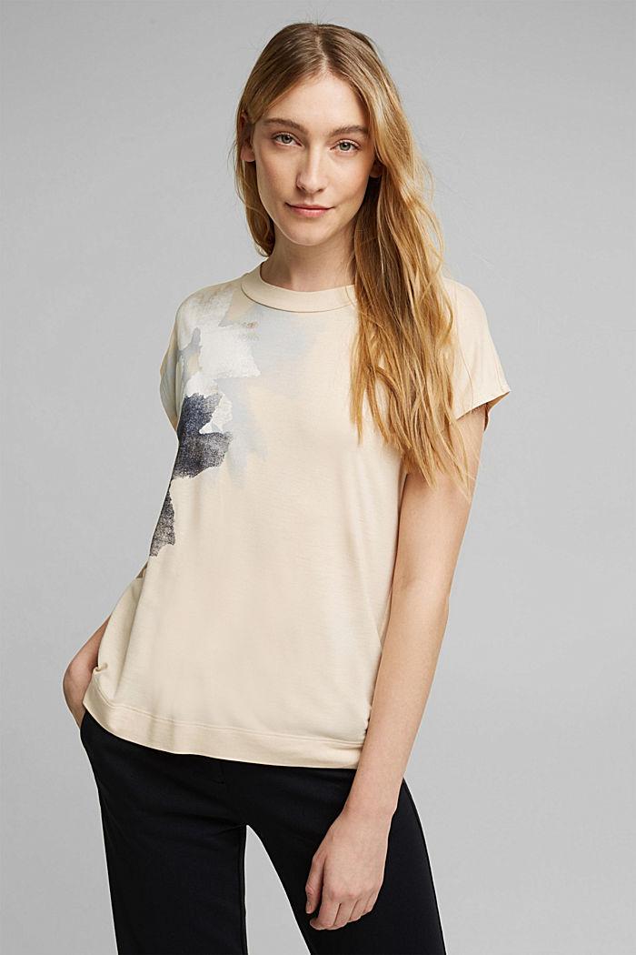 T-Shirt aus 100% LENZING™ ECOVERO™, CREAM BEIGE, detail image number 0