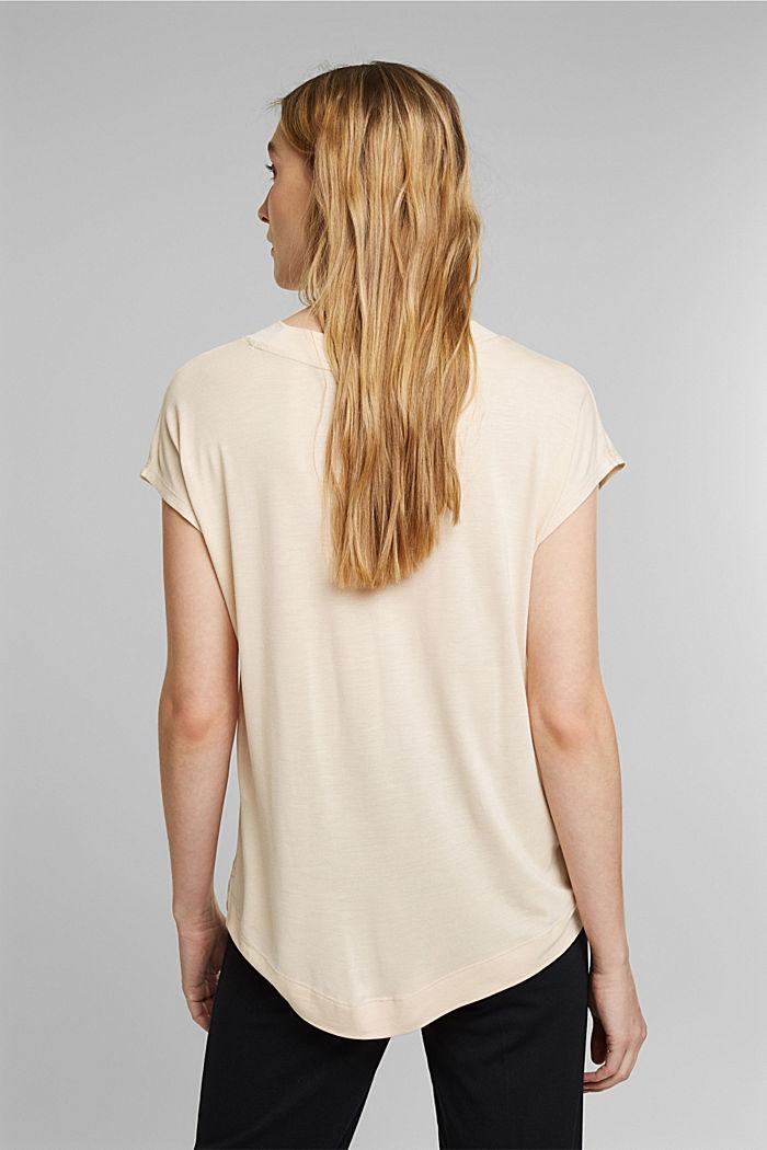T-Shirt aus 100% LENZING™ ECOVERO™, CREAM BEIGE, detail image number 3