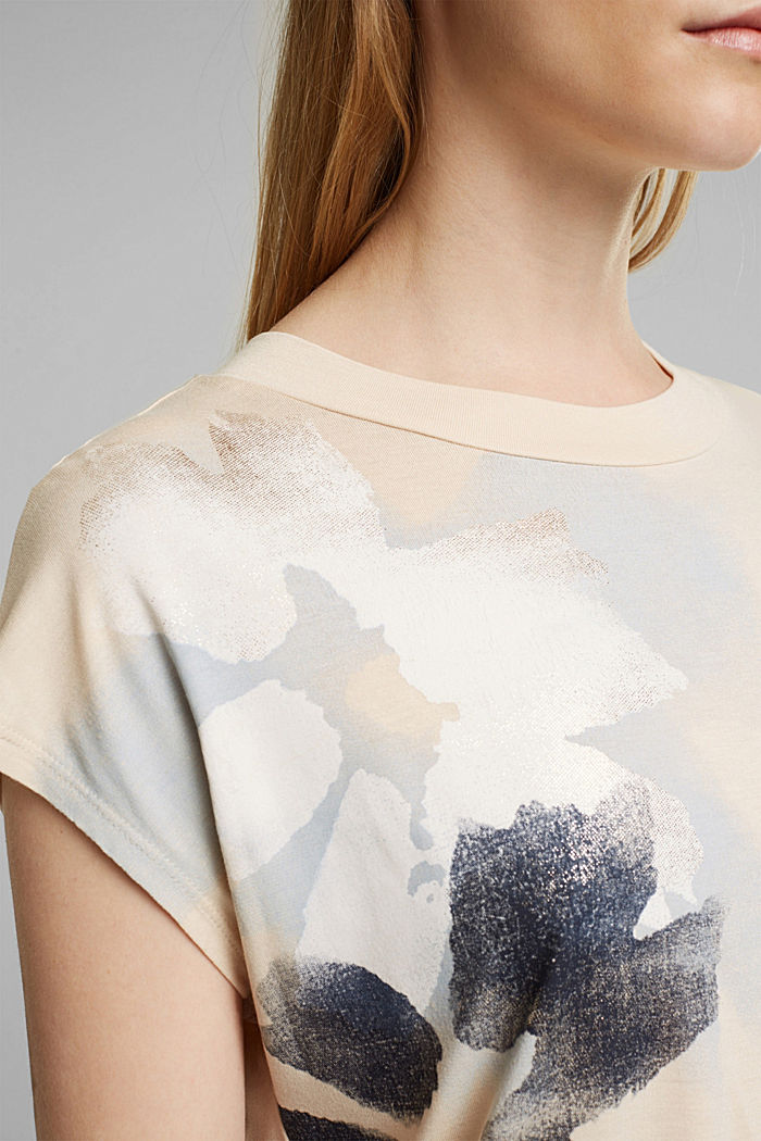 T-Shirt aus 100% LENZING™ ECOVERO™, CREAM BEIGE, detail image number 2