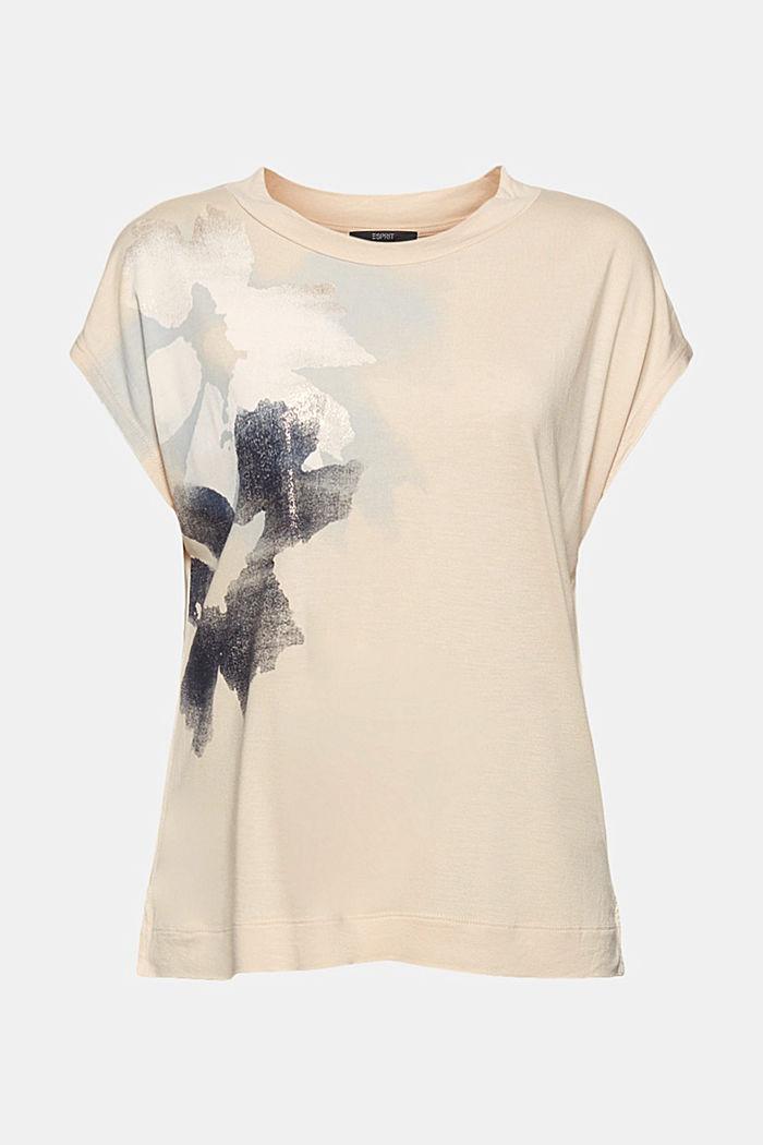 T-Shirt aus 100% LENZING™ ECOVERO™, CREAM BEIGE, detail image number 6