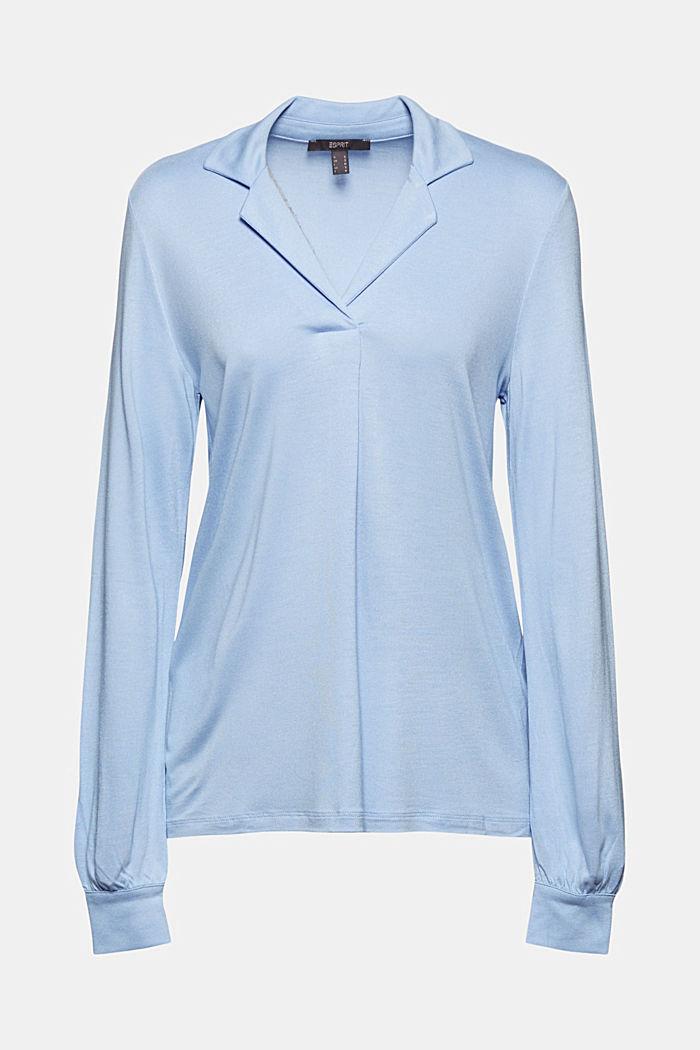 Blouse-style long sleeve top, LENZING™ ECOVERO™