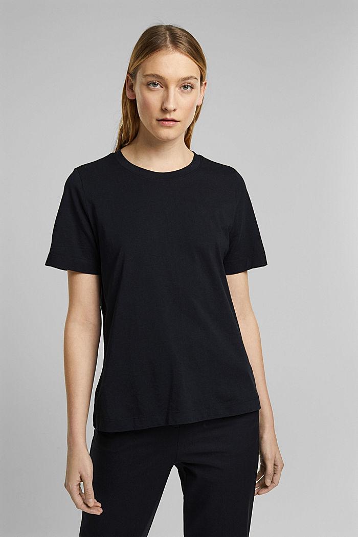 Basic-Shirt aus 100% Organic Cotton, BLACK, detail image number 0