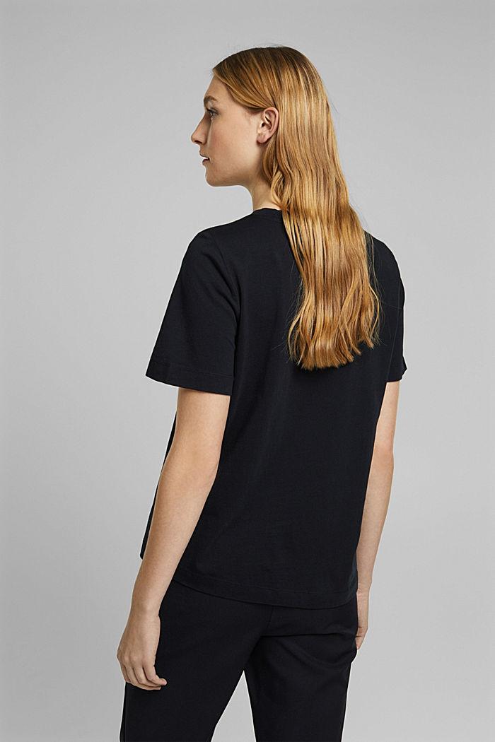 Basic-Shirt aus 100% Organic Cotton, BLACK, detail image number 3
