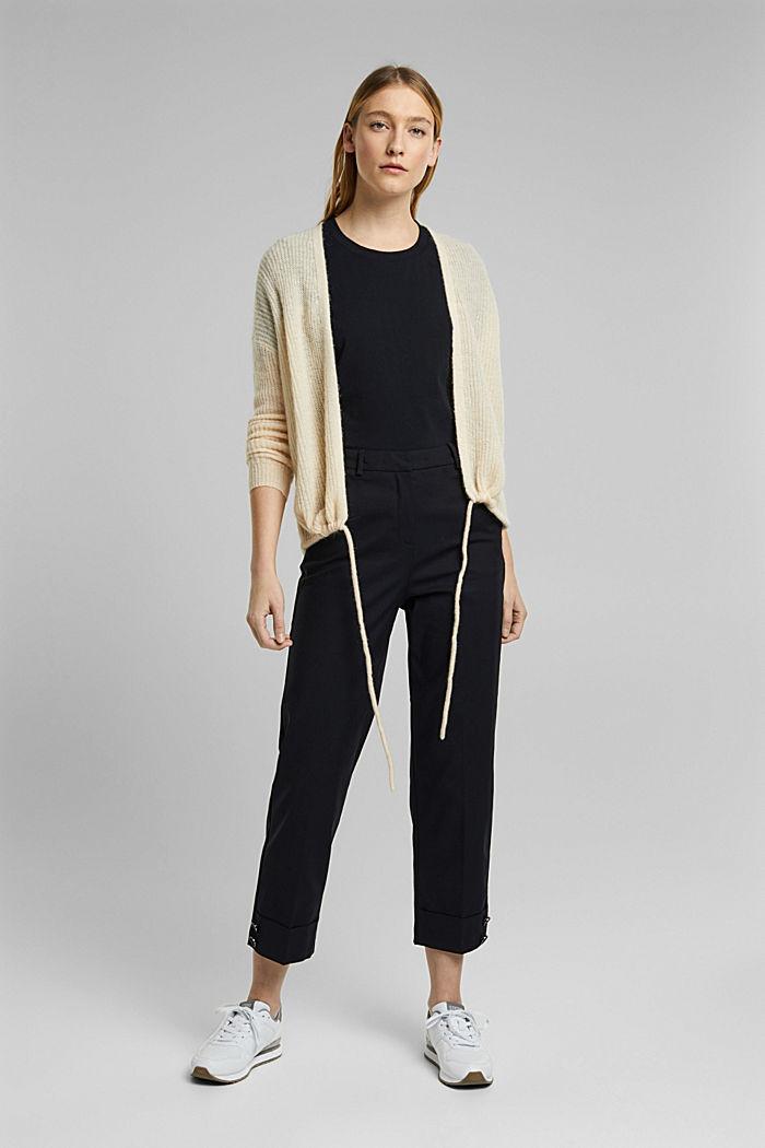 Basic-Shirt aus 100% Organic Cotton, BLACK, detail image number 1