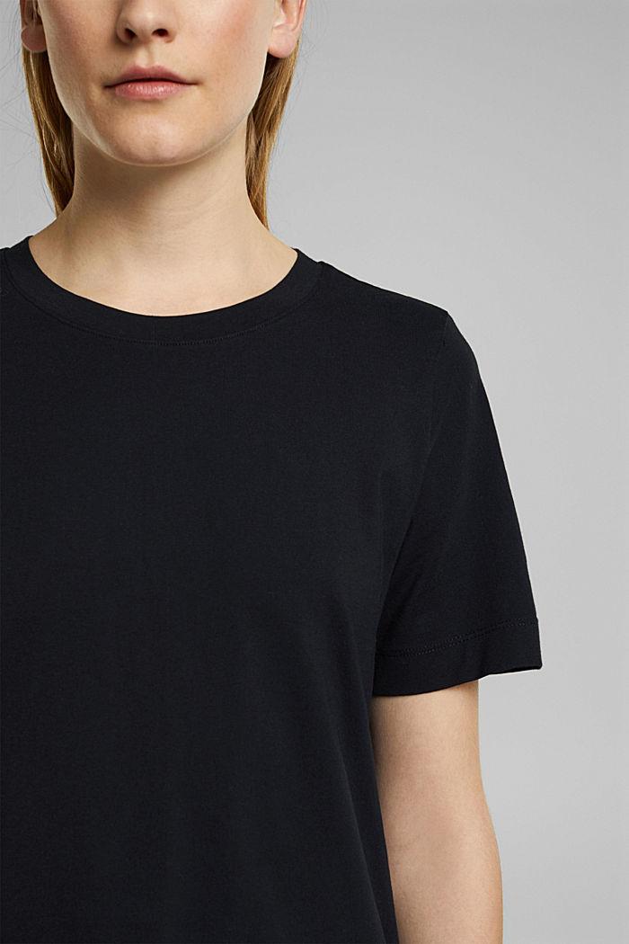 Basic-Shirt aus 100% Organic Cotton, BLACK, detail image number 2