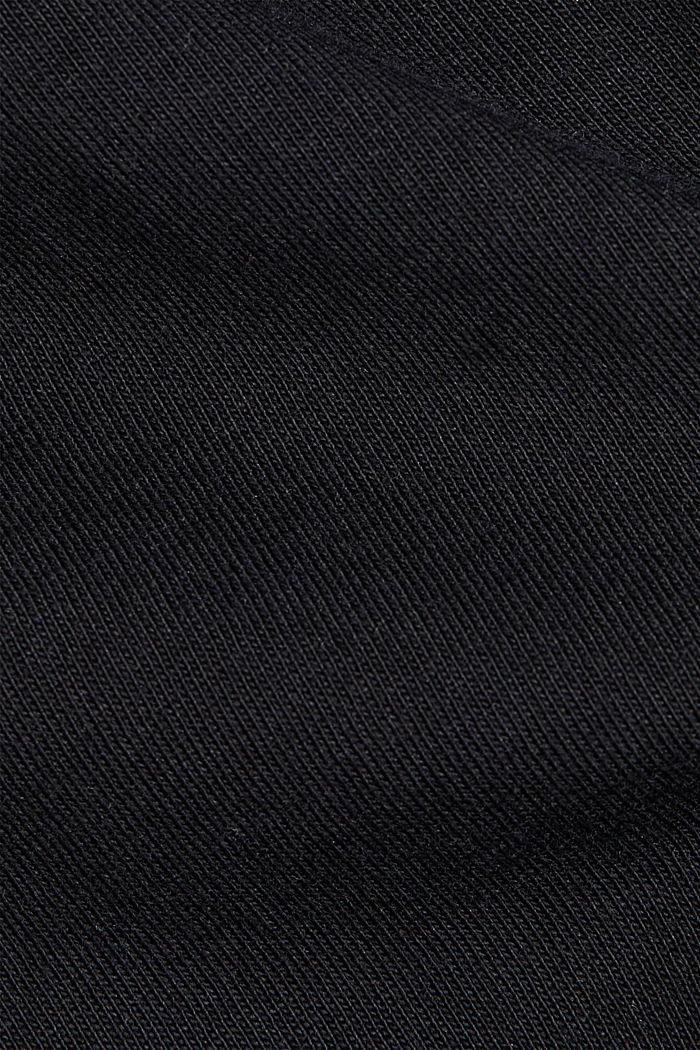 Basic-Shirt aus 100% Organic Cotton, BLACK, detail image number 4