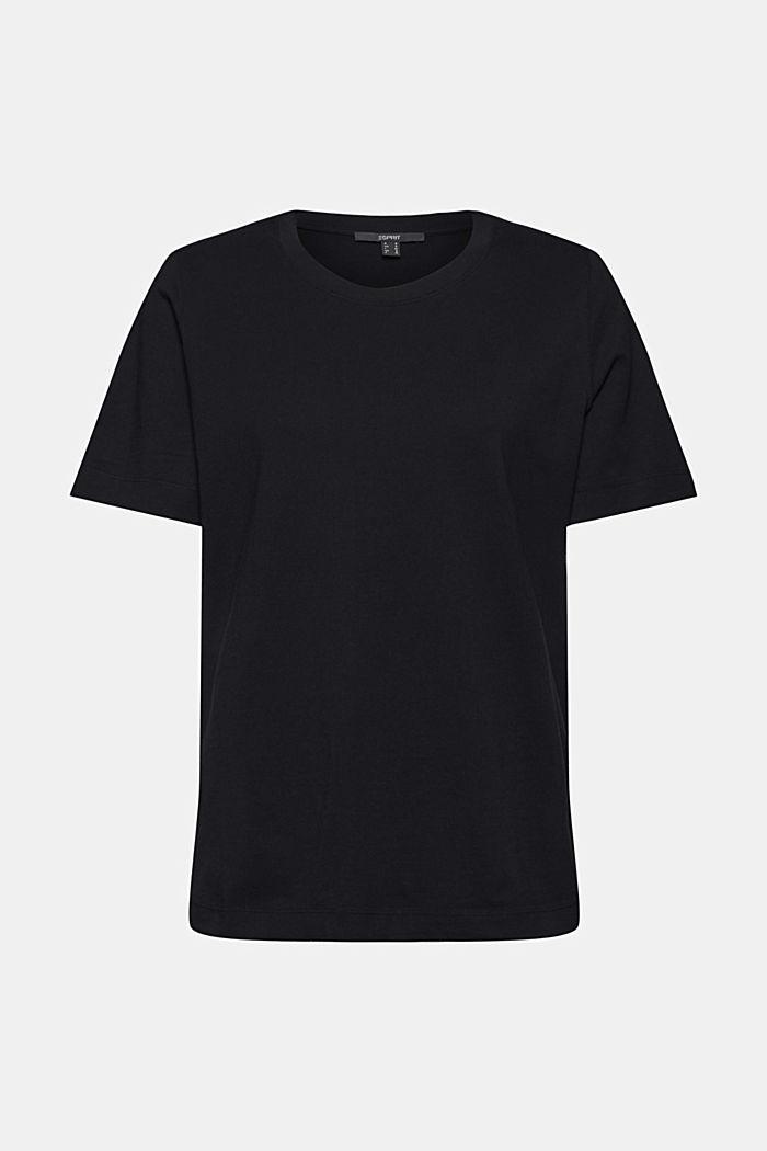 Basic-Shirt aus 100% Organic Cotton, BLACK, detail image number 5