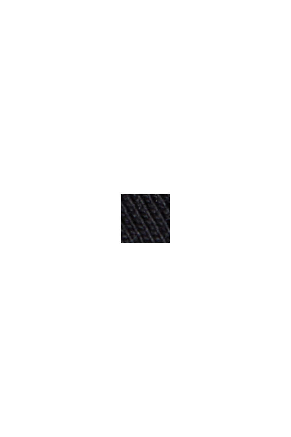 Basic-Shirt aus 100% Organic Cotton, BLACK, swatch