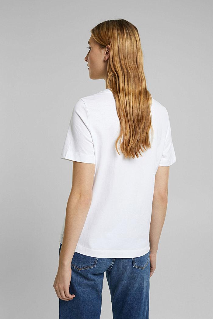 Basic-Shirt aus 100% Organic Cotton, WHITE, detail image number 3