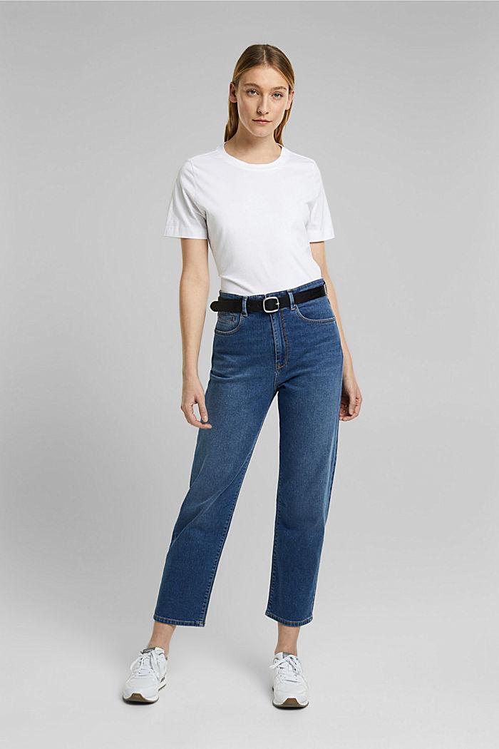 Basic-Shirt aus 100% Organic Cotton, WHITE, detail image number 5