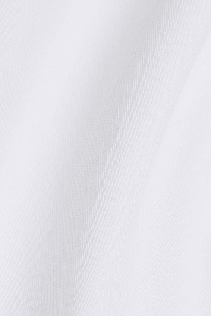Basic-Shirt aus 100% Organic Cotton, WHITE, detail image number 4