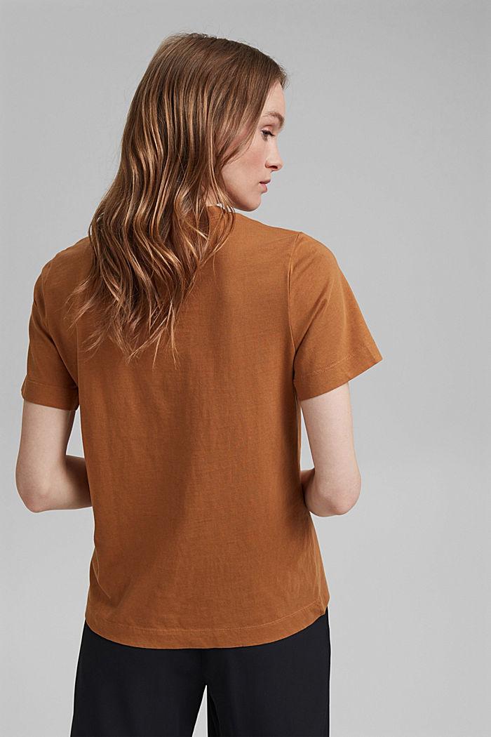 Basic T-shirt in 100% organic cotton, CARAMEL, detail image number 3