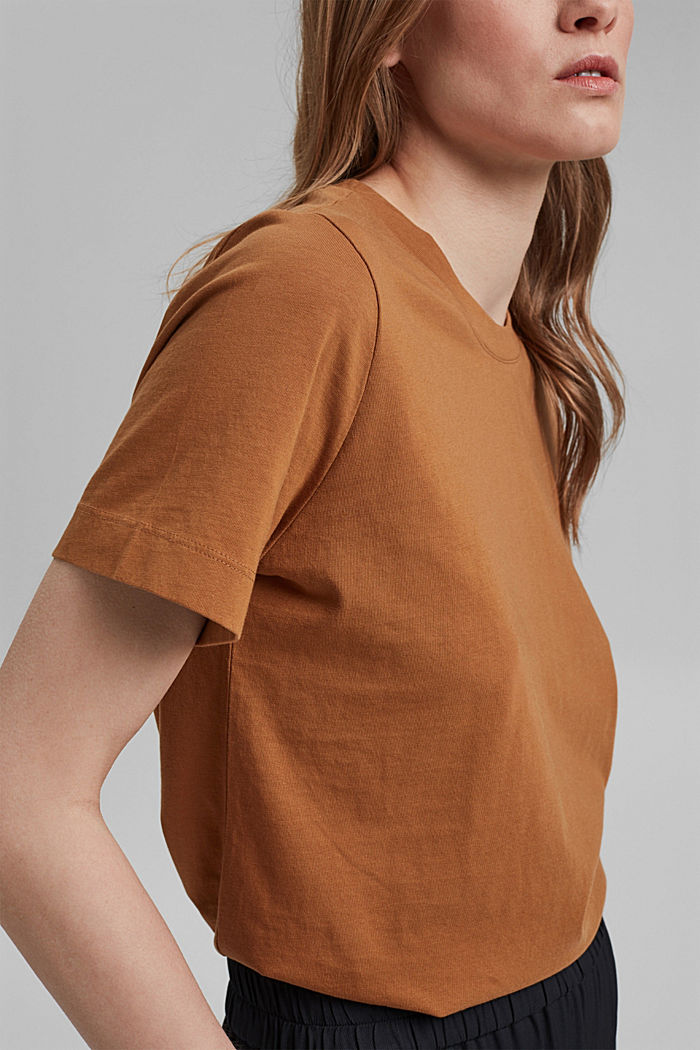 Basic T-shirt in 100% organic cotton, CARAMEL, detail image number 2
