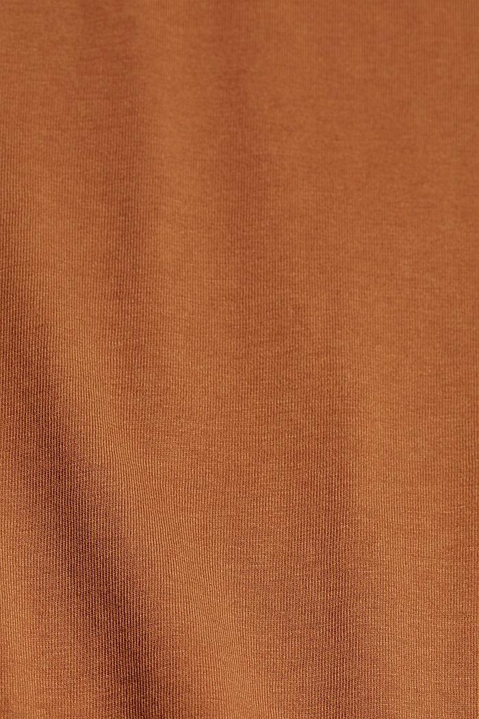 Basic T-shirt in 100% organic cotton, CARAMEL, detail image number 4
