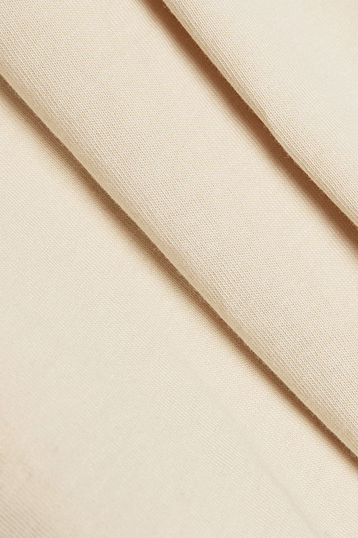 Basic T-shirt in 100% organic cotton, CREAM BEIGE, detail image number 4
