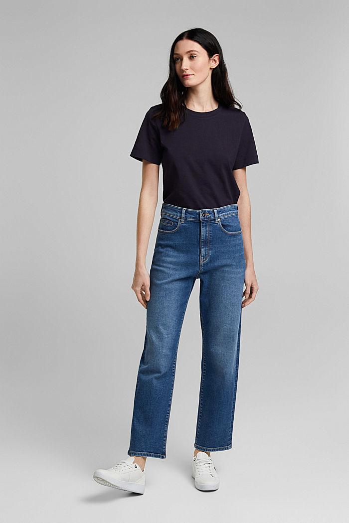 Basic T-shirt in 100% organic cotton, NAVY, detail image number 5